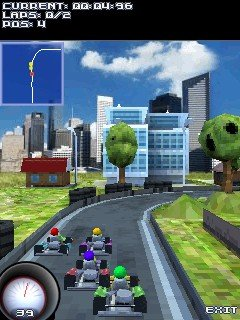 Download 3D Go Karts 240x320 samsung jar or jad.